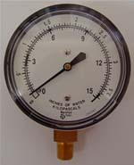 Gas Pressure Guage - Inches of Water