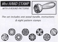 California Pot Tools - Hand Stamp Set (mini)