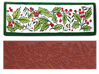 Mayco Designer Stamp - ST-107 - Holly Border