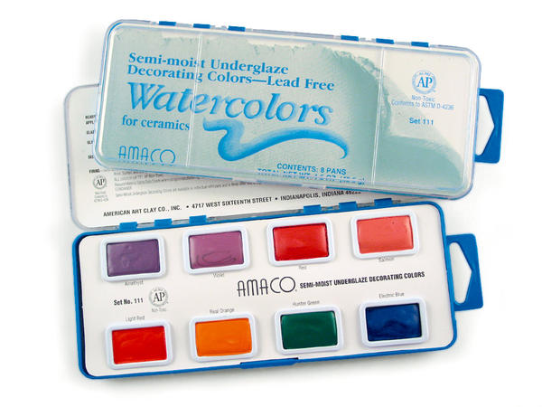 AMACO Watercolors for Ceramics - Set #108